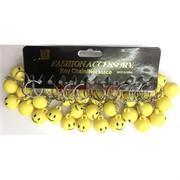 Брелки цветные пластмассовые желтые «Смайлики»