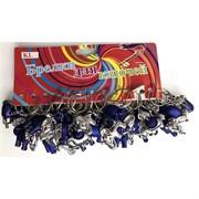 Брелки пластмассовые «Слоны» серебряно-синие (KL-1525)
