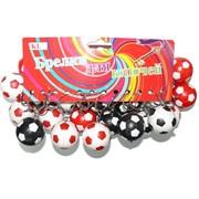 Брелок пластмассовый (KL-1558) «Футбольные мячи» светящийся 120 шт/уп