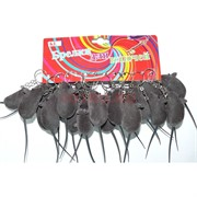 Брелок со звуком «Крыса серая» 120 шт/уп (пищит)