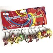 Брелок (KL-685) рыбка цветная 120 шт/уп