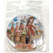 Магнит «Москва» (MS-62) круглый металлический