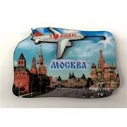 Магнит (MS-66) «Москва» с самолетом деревянный