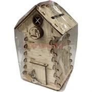 Копилка деревянная (MS-78) «Изба»