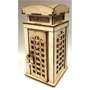 Копилка деревянная (MS-82) «Телефонная будка»