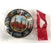 Магнит керамический (MS-131) «Москва Кремль» в виде тарелки