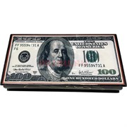 Деревянная подарочная (MS-168) шкатулка «100 долларов»