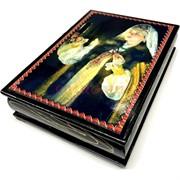 Деревянная подарочная шкатулка (MS-172) «Девушка с зеркальцем»