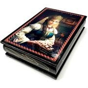 Деревянная подарочная шкатулка (MS-173) «Девушка с косой»
