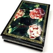 Деревянная подарочная шкатулка (MS-176) «Цветы»
