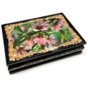 Деревянная подарочная шкатулка (MS-177) «Розовые цветы»