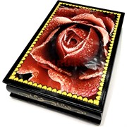 Деревянная подарочная шкатулка (MS-178) «Красная роза»