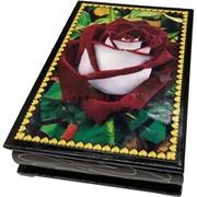 Деревянная подарочная шкатулка (MS-179) «Красно-белая роза»