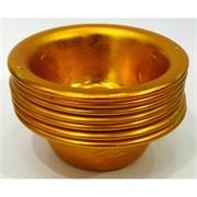 Буддийская чаша металлическая 3 см под золото 7 шт