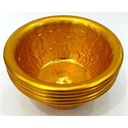 Буддийская чаша металлическая 4 см под золото 7 шт