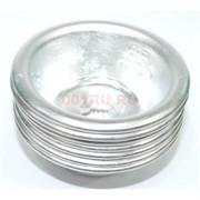Буддийская чаша металлическая 3 см под серебро 7 шт