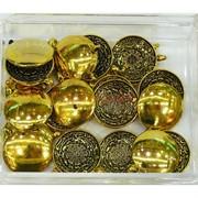 Подвеска металлическая под золото 3 см