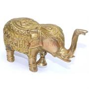 Статуэтка бронзовая «Слон» с колокольчиком
