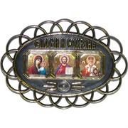 Амулет иконка православный «Спаси и сохрани» 10x13 см на липучке