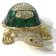 Шкатулка со стразами (3984) «Черепаха»