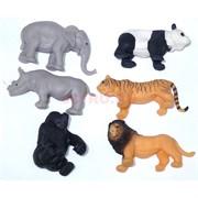 Резиновые игрушки «Дикие животные» 24 шт/уп