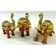 Металлическая шкатулка (2591) набор из 3 слонов со стразами