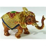 Металлическая шкатулка (4960) «Слон» со стразами