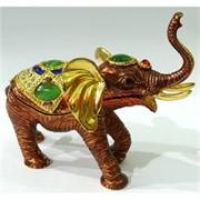 Металлическая шкатулка (3022) «Слон» со стразами