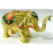 Металлическая шкатулка (4782) «Слон» со стразами
