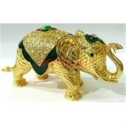 Металлическая шкатулка (4658) «Слон» со стразами