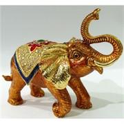 Металлическая шкатулка (4801) «Слон» со стразами