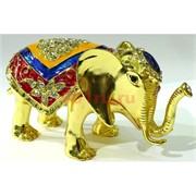 Металлическая шкатулка (3395) «Слон» со стразами