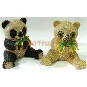 Металлическая шкатулка (4844) «Панда» со стразами