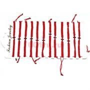 Браслет с красной ниткой (M-109) Крест красный 12 шт/уп