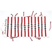 Браслет с красной ниткой (AG-185) Три черных креста 12 шт/уп