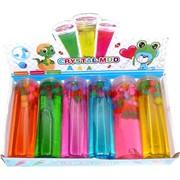 Слайм банка 420 гр цветной с шариками 6 шт/уп