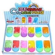Лизун мялка «IceCream Crystal Mud» 24 шт/уп