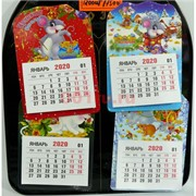 Магниты крыса календарь (KL-1585) символ 2020 года 1200 шт/кор