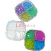 Слайм (5213) Crystal mud 4 цвета 12 шт/уп