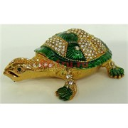 Шкатулка со стразами (4792) черепаха