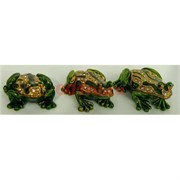Шкатулка со стразами (012) три лягушки