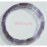 Браслет из фиолетового аметиста прямоугольный