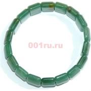Браслет из зеленого нефрита прямоугольный