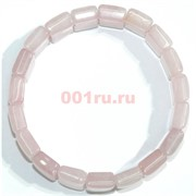 Браслет из розового кварца прямоугольный округлый