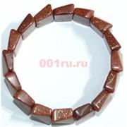 Браслет из светло-коричневого авантюрина прямоугольный округлый