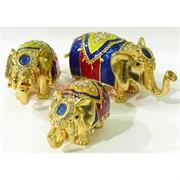 """Шкатулка со стразами """"Три слоника"""" (4942)"""