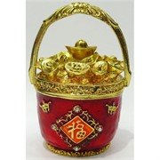 Металлическая шкатулка (NS-773U) «Чаша символ богатства»
