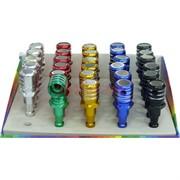 Трубка курительная малая из алюминия (цвета ассортимент)