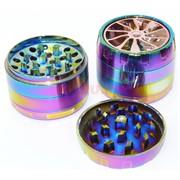 Металлический гриндер фиолетовый диаметром 55 мм
