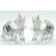 Фигурка из полистоуна белая «Слон»
